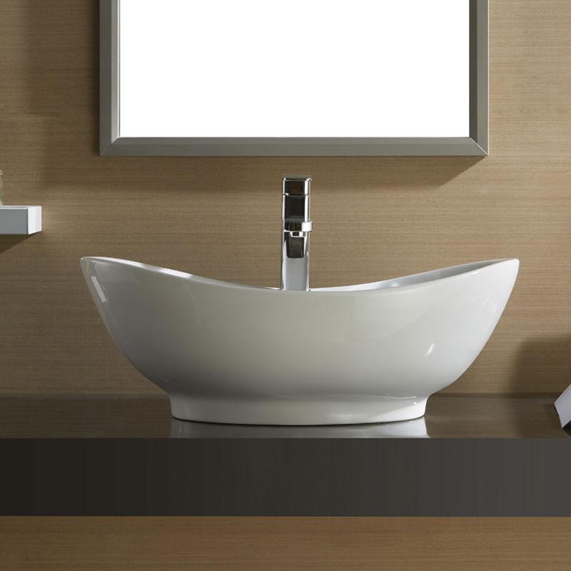 Designer Oval Counter Top Basin Sink Bowl Ceramic For Bathroom Or Cloakroom Ebay
