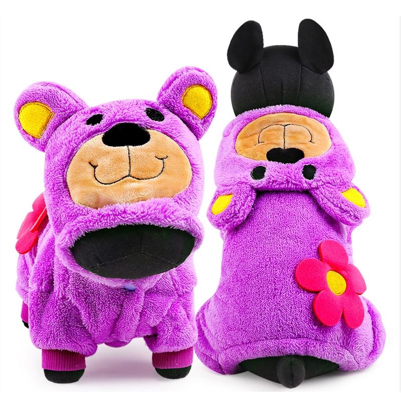 halloween dog costume cartoon pet jumpsuit warm small. Black Bedroom Furniture Sets. Home Design Ideas