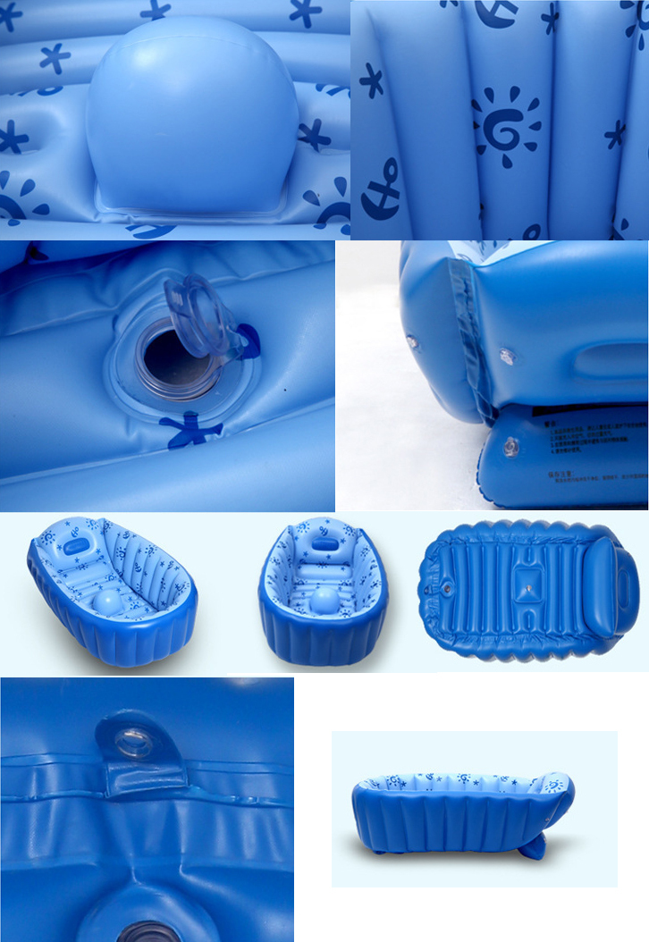 baby kid toddler infant bath tub portable inflatable bathtub travel swimmer new ebay. Black Bedroom Furniture Sets. Home Design Ideas