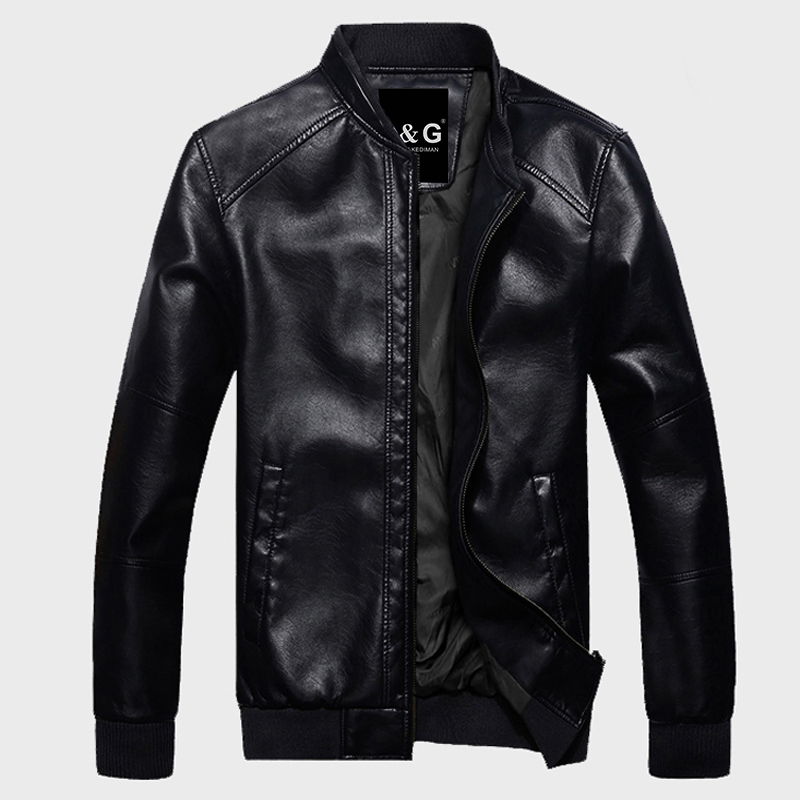 Slim Fit Leather Jacket Mens