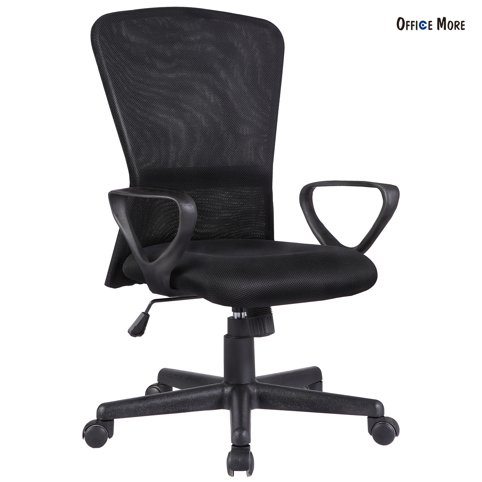 Ergonomic Mesh Chair For Office Computer Desk Black Chair With Back Armrest