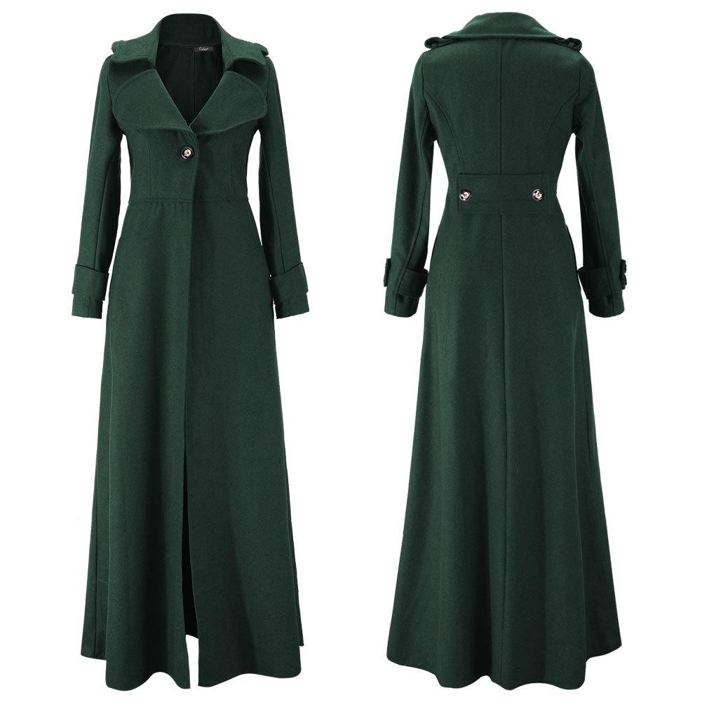 NEW Women Wool Cashmere Winter Parka Long Hooded Jacket Coat ...