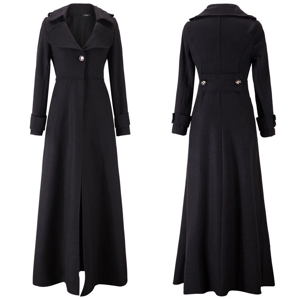 NEW Women Wool Cashmere Winter Parka Long Hooded Jacket Coat