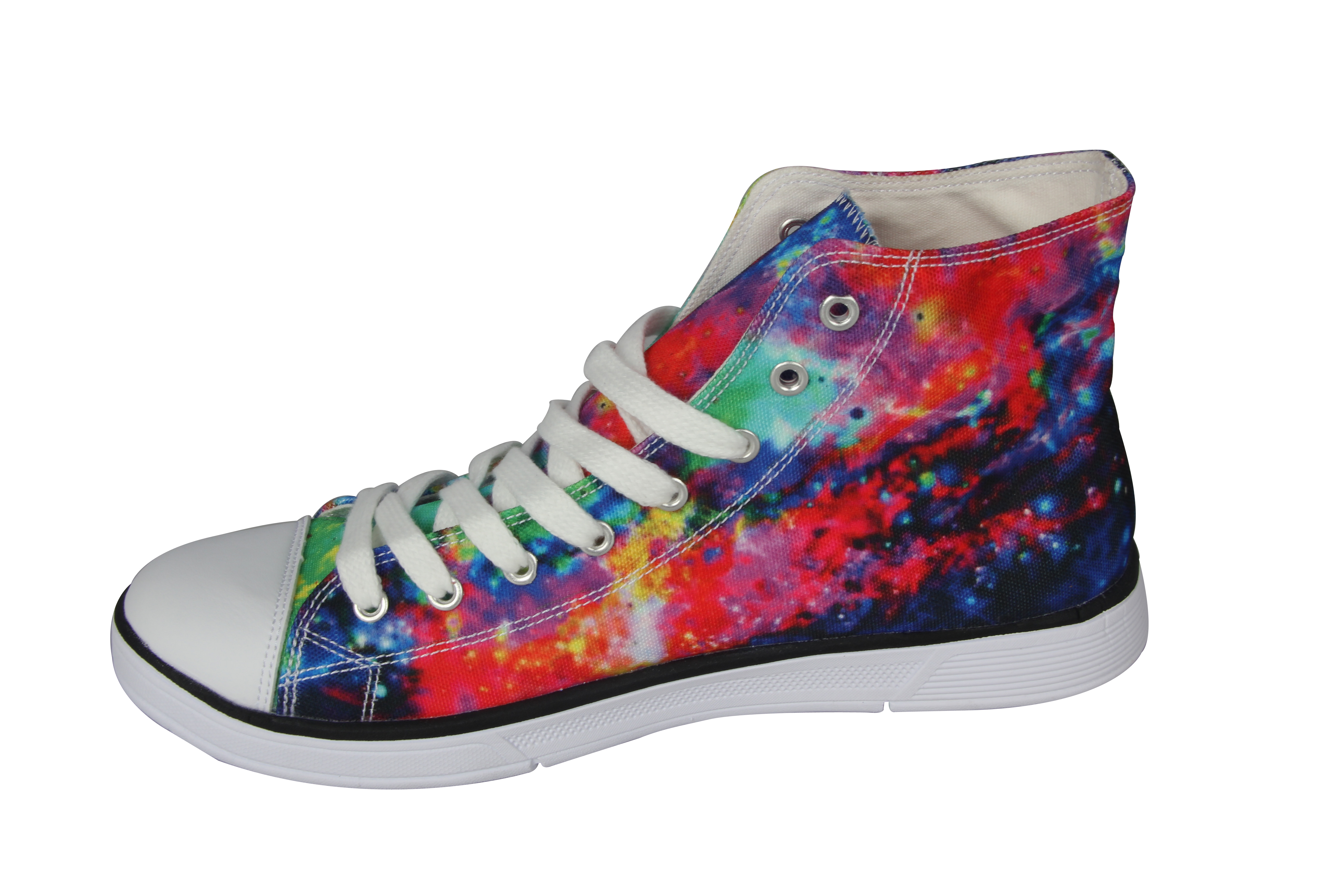 galaxy high top canvas shoes fashion flat shoes lace
