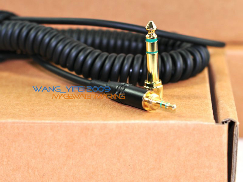 Replacement DJ Headphone Cable Cord Line Plug For SONY MDR 7506 V6 ...