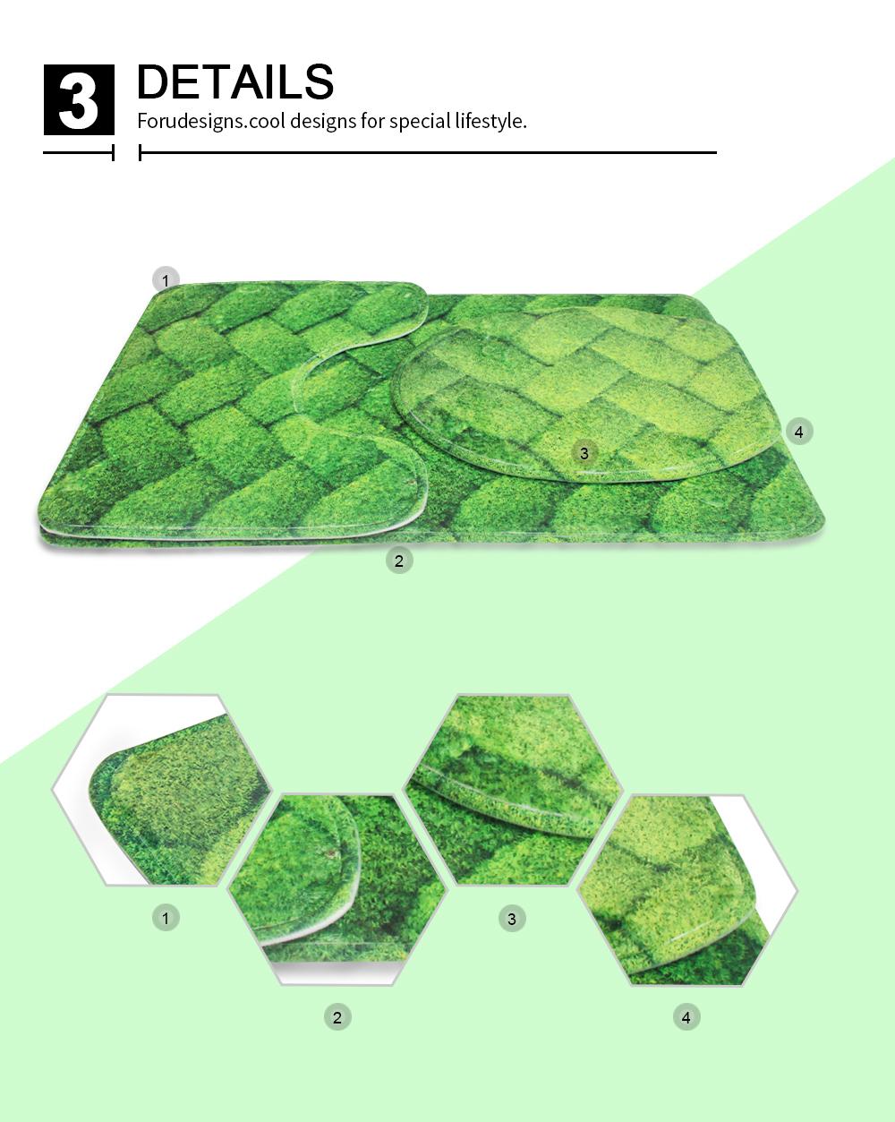 3pcs Butterfly Bath Mat Carpet Toilet Set Cover Cushion